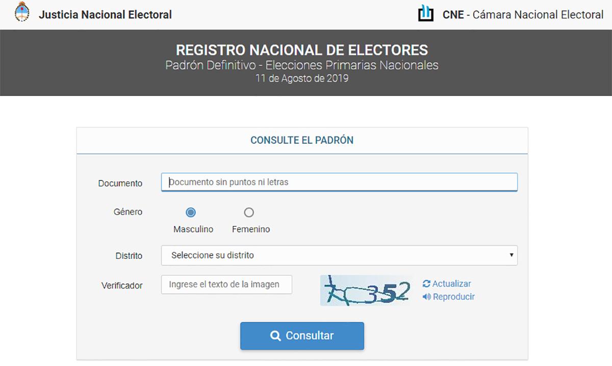 Averiguar donde voto computadora argentina 2019