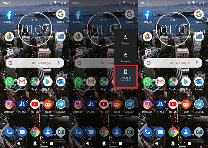 Como capturar la pantalla Moto G7 Power