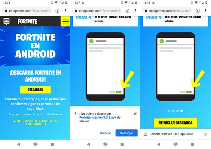 Descargar Fortnite en Android