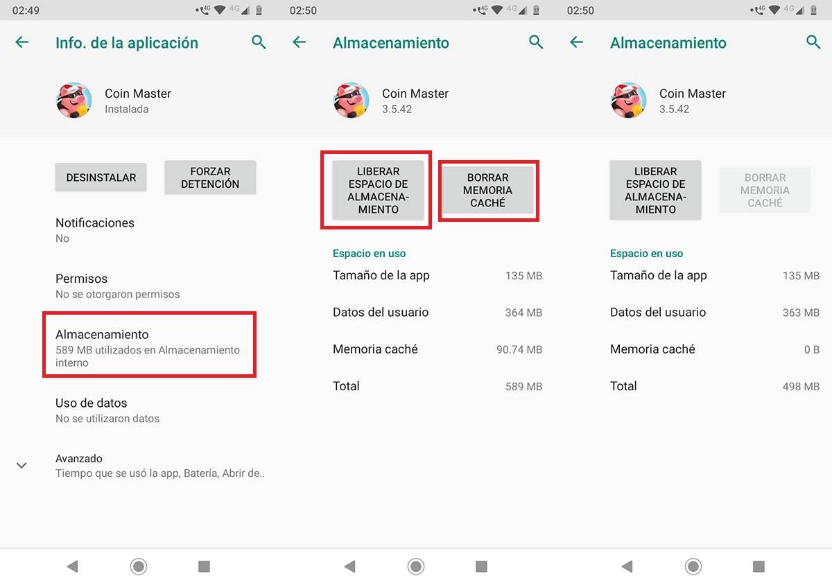 Coin Master no carga problema Android