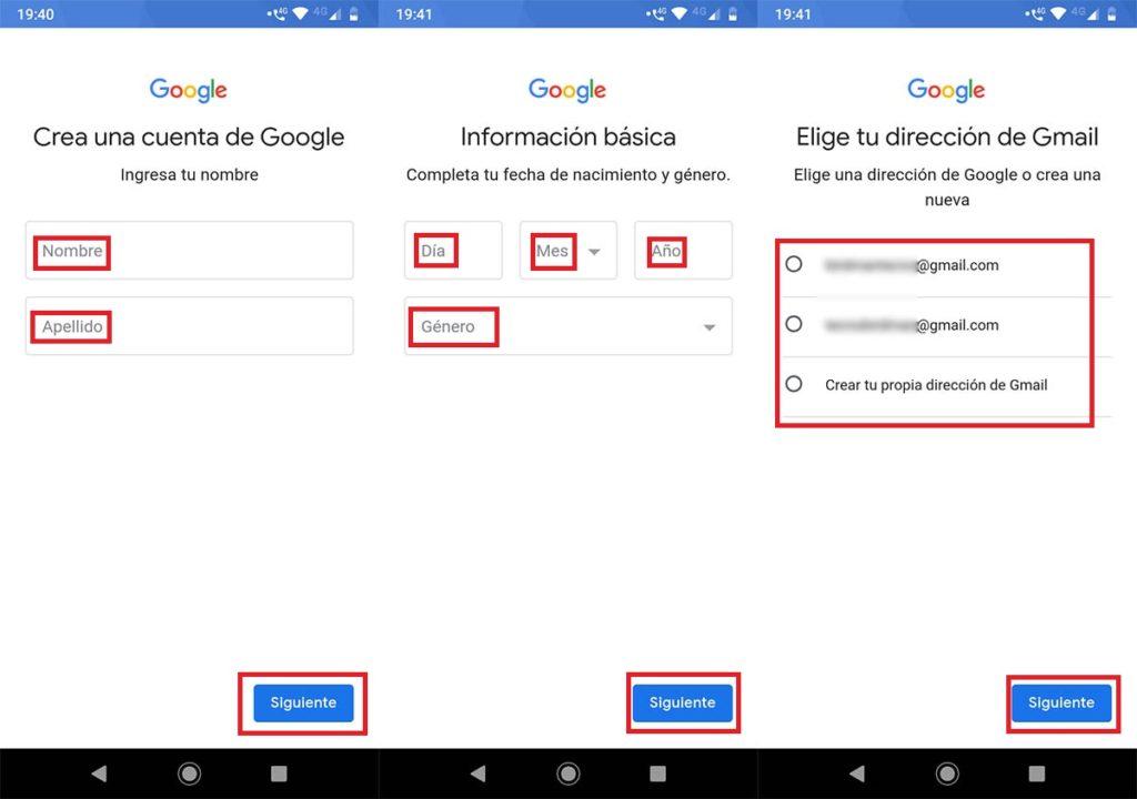 Cómo crear una cuenta de Gmail en el móvil