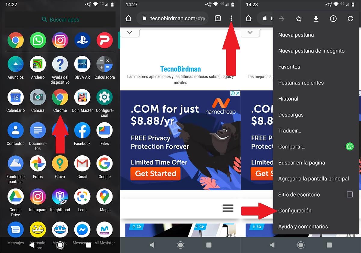 Cambiar ubicación carpeta descargas Chrome