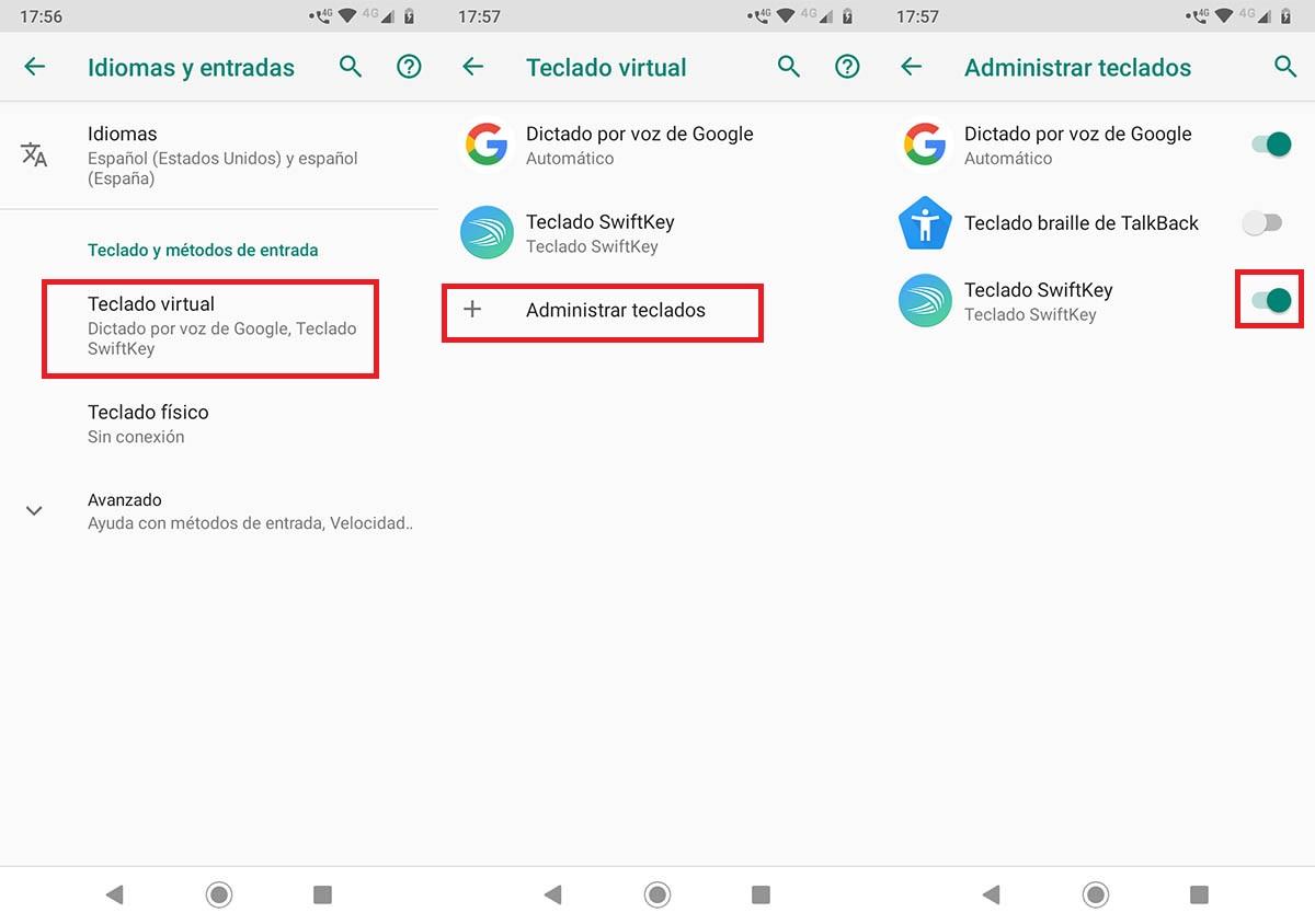 Cómo cambiar teclado móvil Motorola