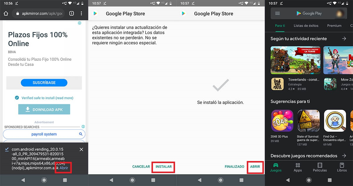 Cómo instalar Play Store Motorola