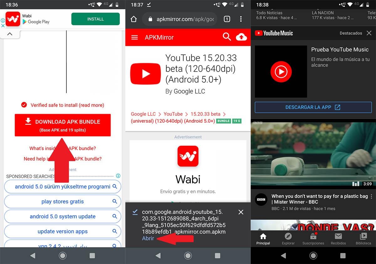 Descargar YouTube APK