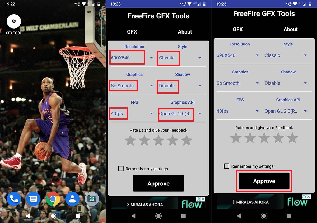 Configurar Free Fire GFX Tool