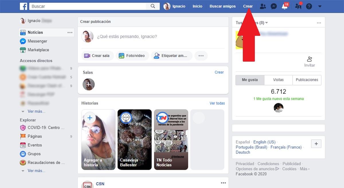 🥇 Cómo crear una página de Facebook (en 2020)