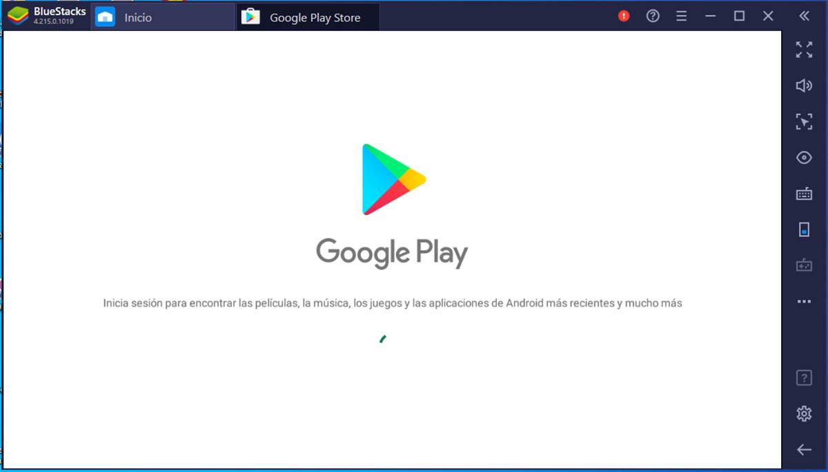 Iniciar sesión con Google en BlueStacks