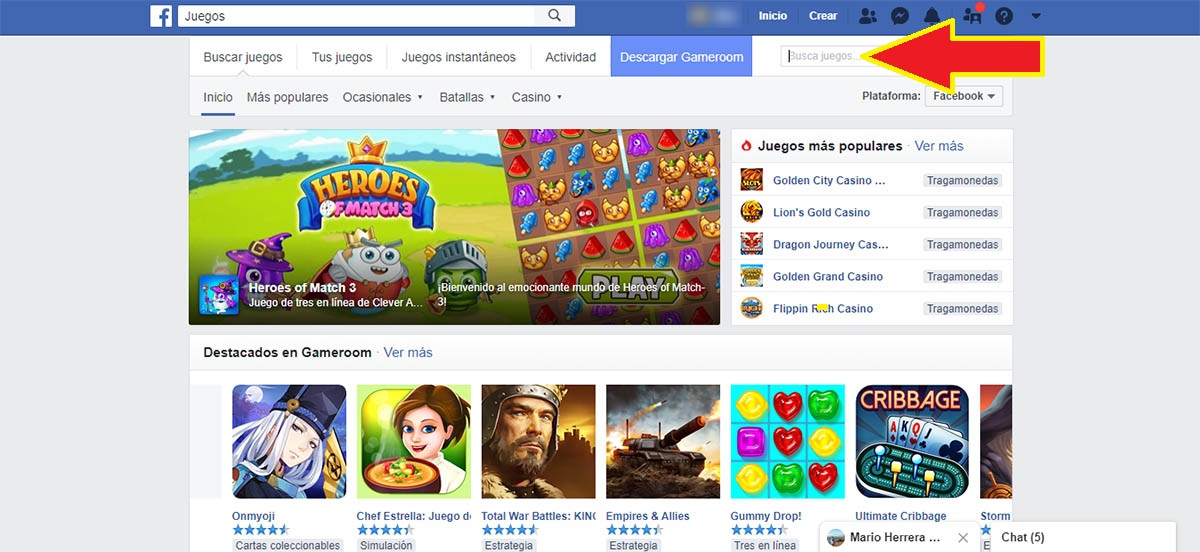 Entrar en Facebook Games