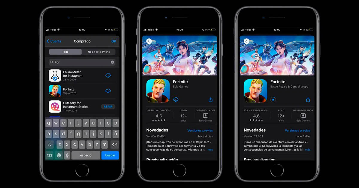 Descargar Fortnite para iPhone e iPad fuera de App Store