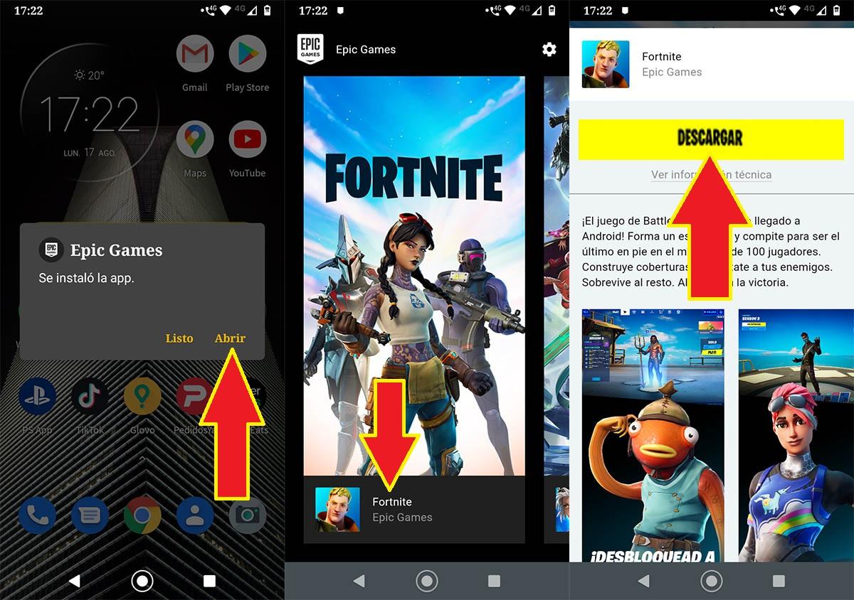 Descargar Fortnite por fuera de Play Store