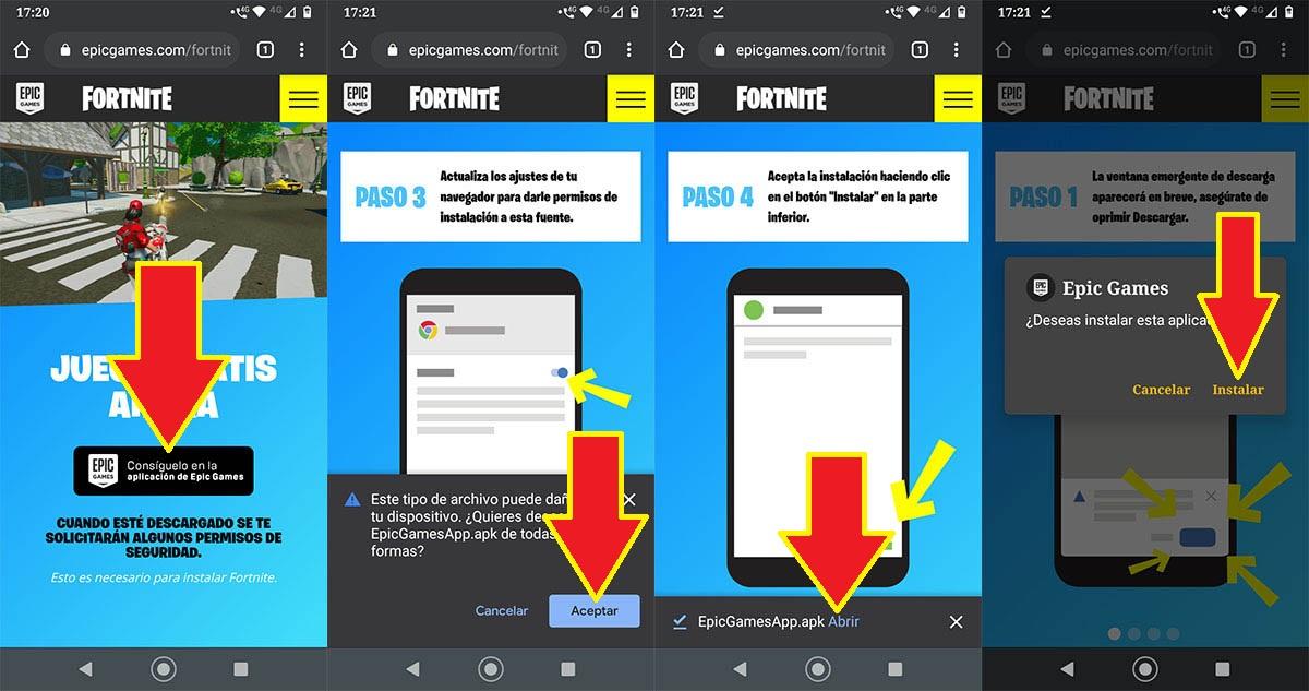 Descargar Fortnite sin Play Store