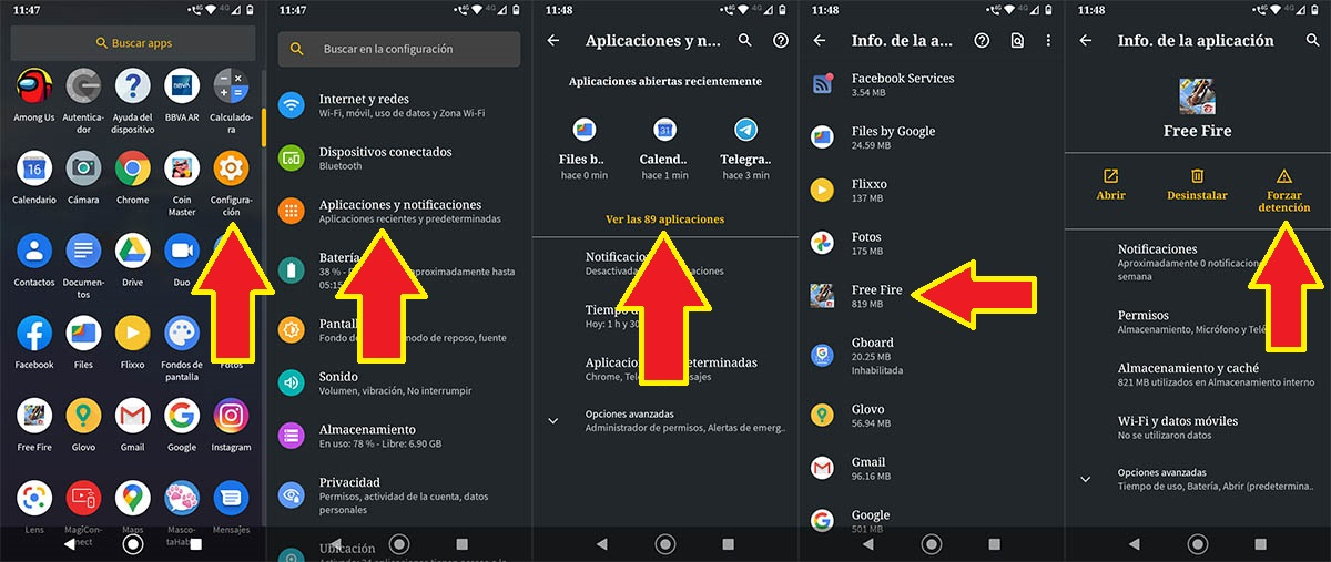 Solucionar problema Free Fire Android
