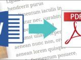 Cómo pasar un documento de Word a PDF online