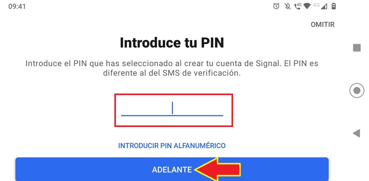 PIN Signal tablet