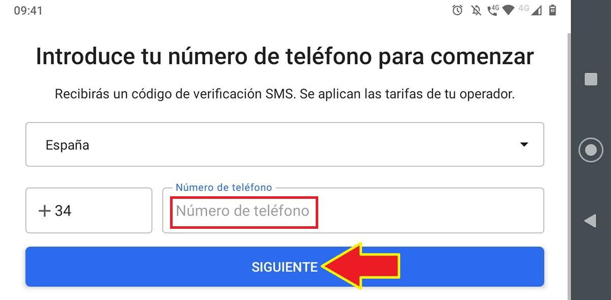Verificar número Signal tablet