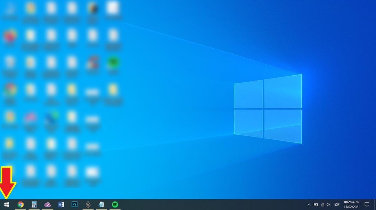 Botón de inicio Windows 10