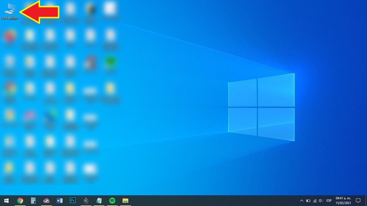 Ingresar a Mi PC en Windows 10