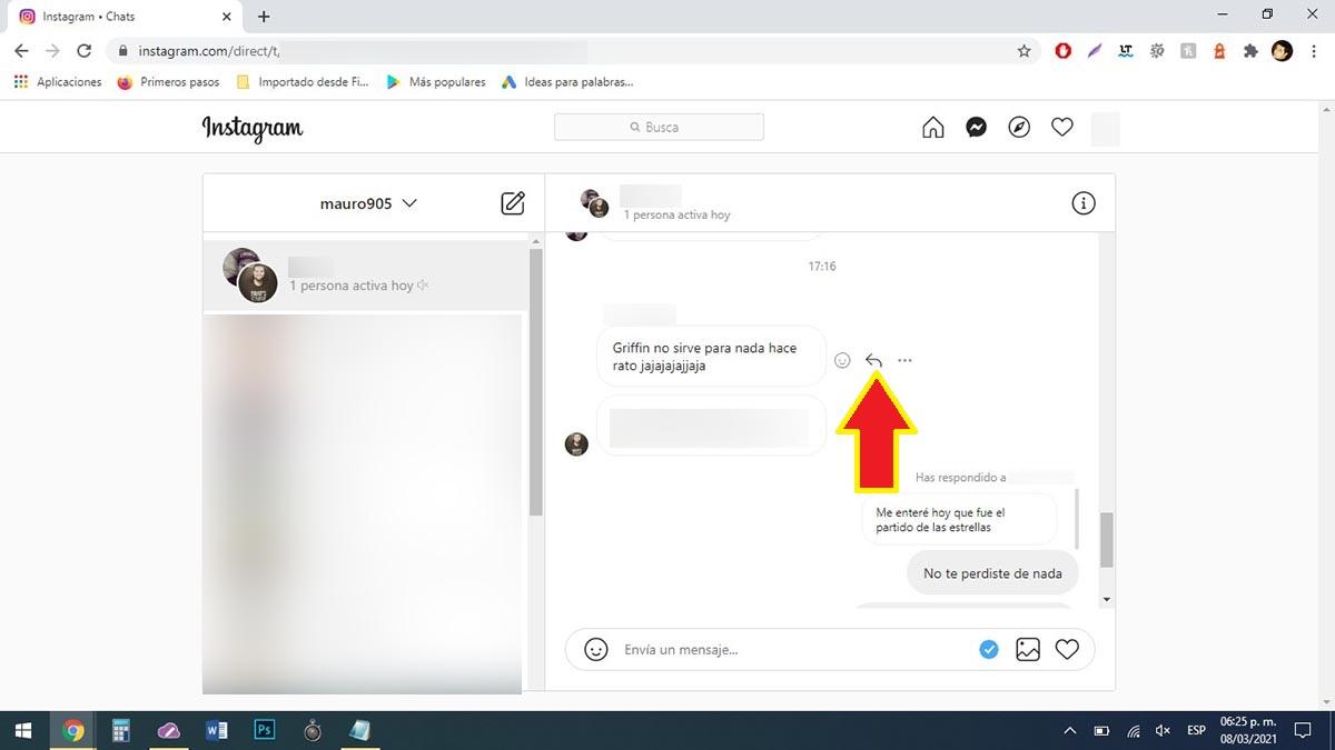 Responder mensajes en Instagram desde PC