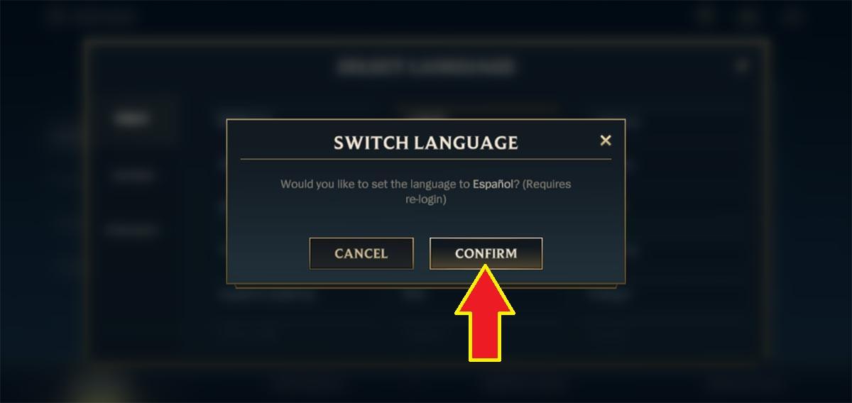 Cambiar el idioma en LoL Wild Rift