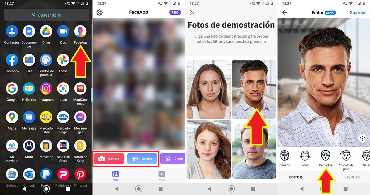 Filtro pelado FaceApp