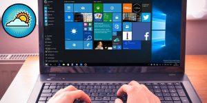 Quitar clima barra de tareas Windows 10