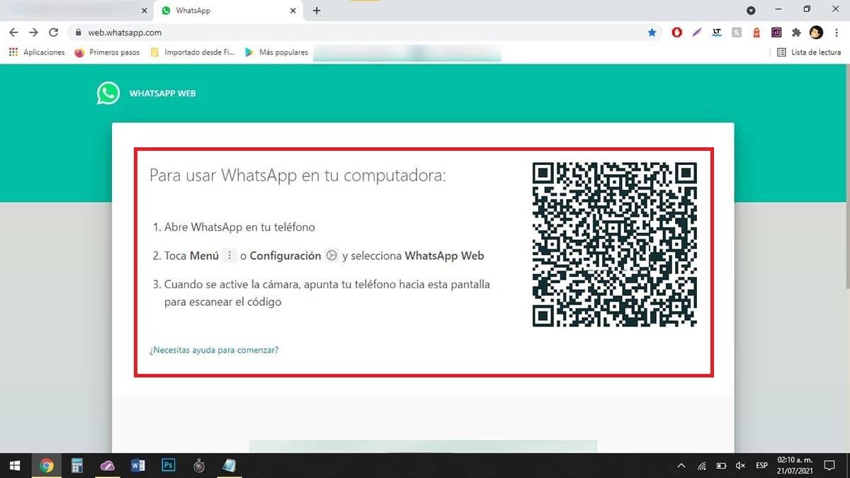 Cerrar sesion de WhatsApp Web desde el PC