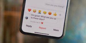Como reaccionar a los mensajes de Instagram con emojis
