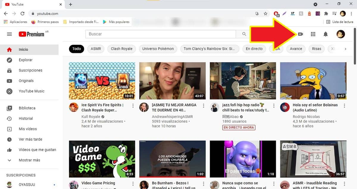 Crear vídeo YouTube PC