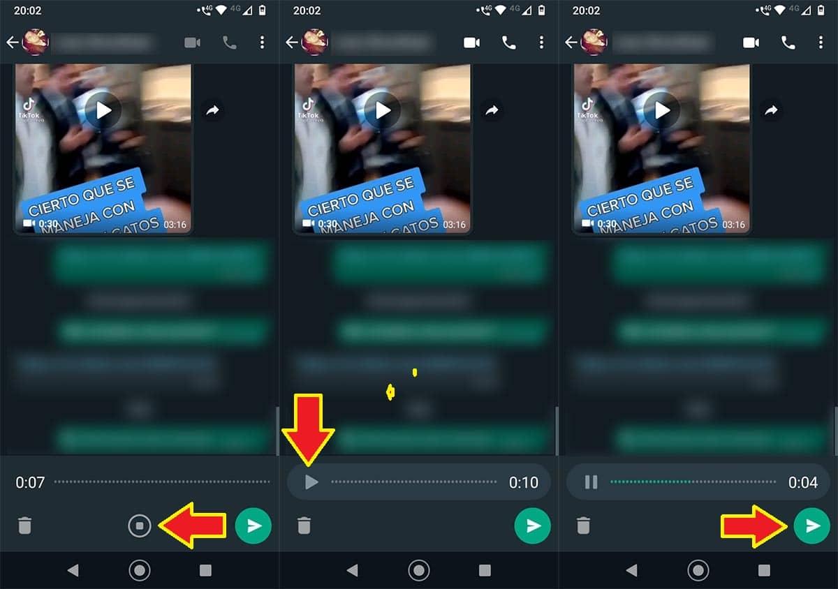 WhatsApp audios nueva función