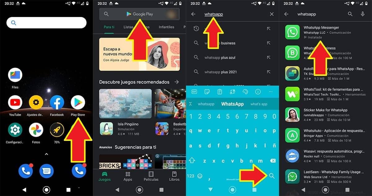 WhatsApp en Google Play Store