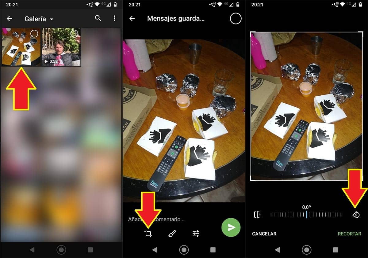 Rotar fotos Telegram