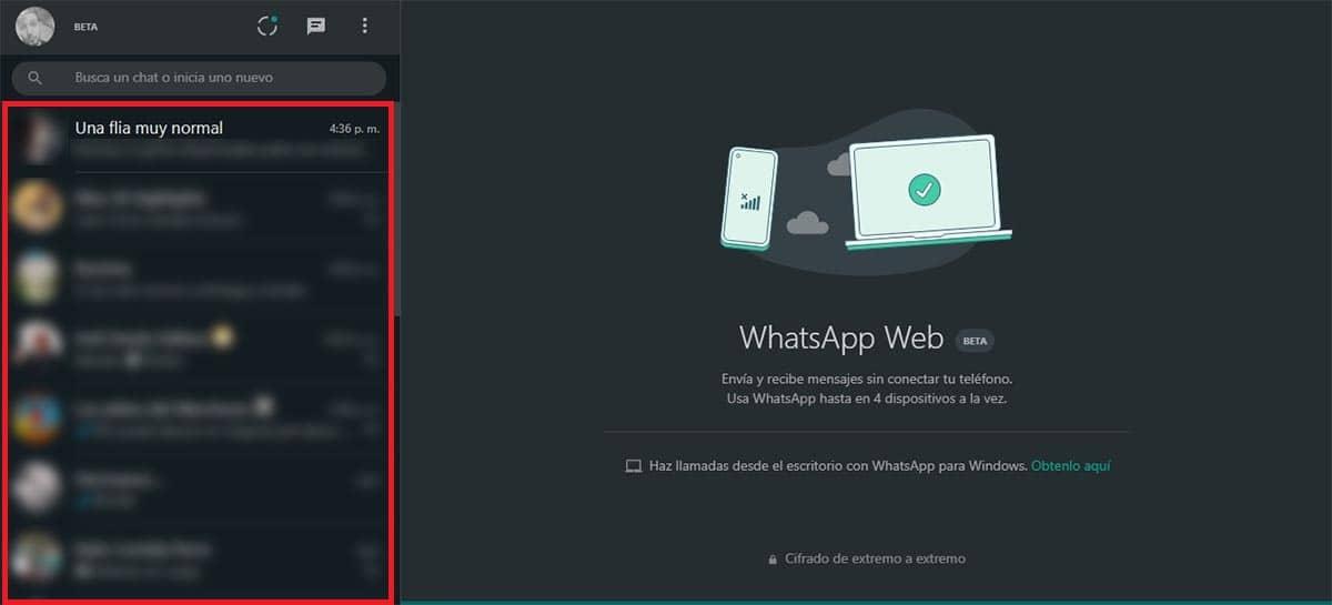 Entrar en WhatsApp Web desde el PC